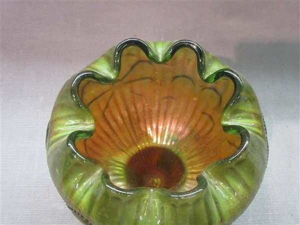 Northwood Carnival Glass Footed Vase - 2