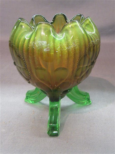 Northwood Carnival Glass Footed Vase - 3