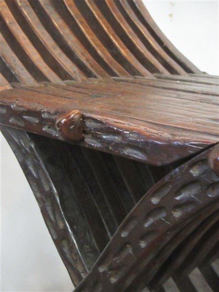 18th/19th C. Italian Savonarola Arm Chair - 3