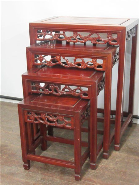 Chinese Rosewood Nesting Tables