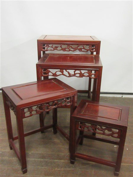 Chinese Rosewood Nesting Tables - 2