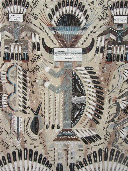 Sammy Myerson Navaho Indian Sand Painting - 2