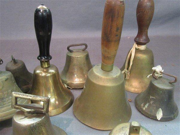 Fifteen (15) 19th c. Brass Bells - 3