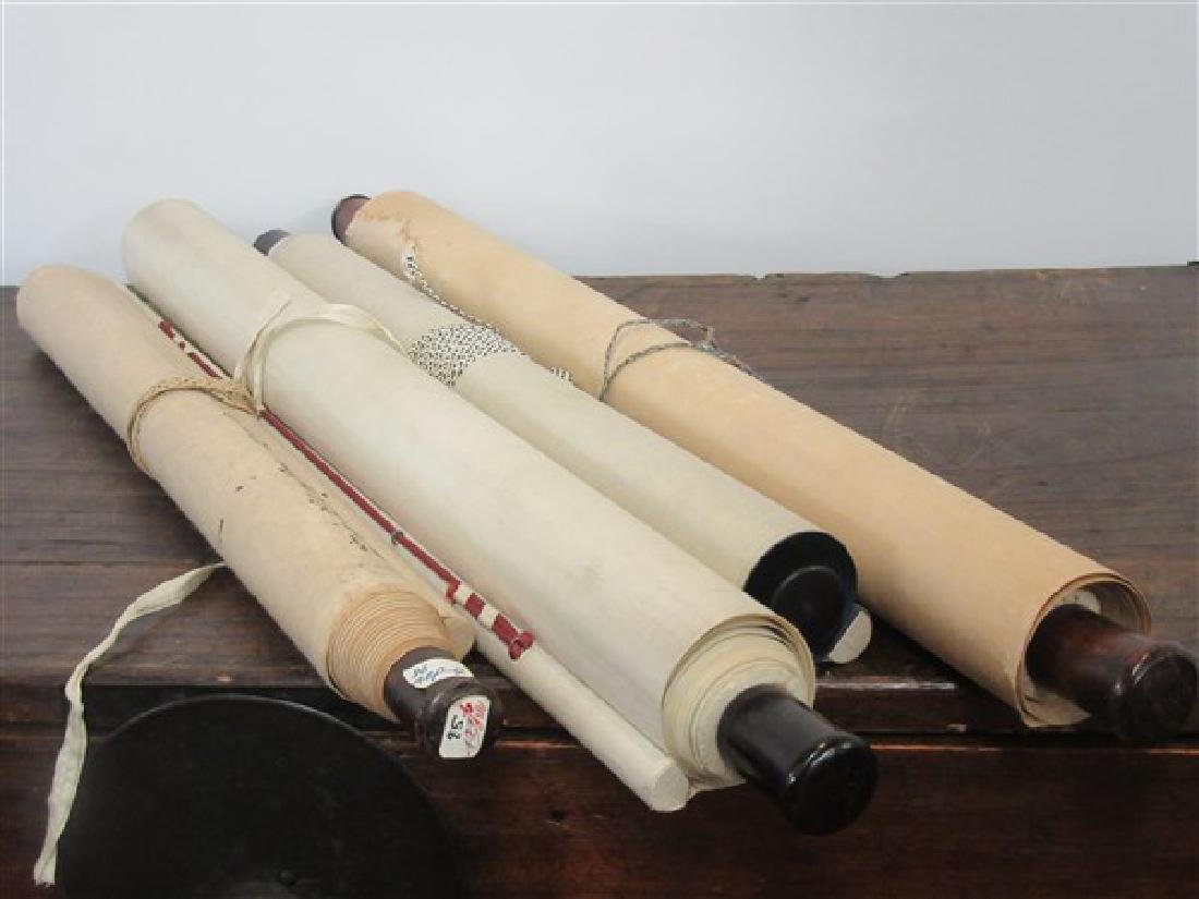 Four (4) Chinese Hanging Scrolls