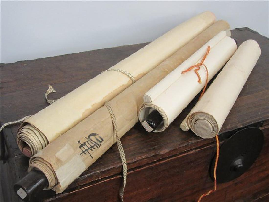 Four (4) Hanging Chinese Scrolls