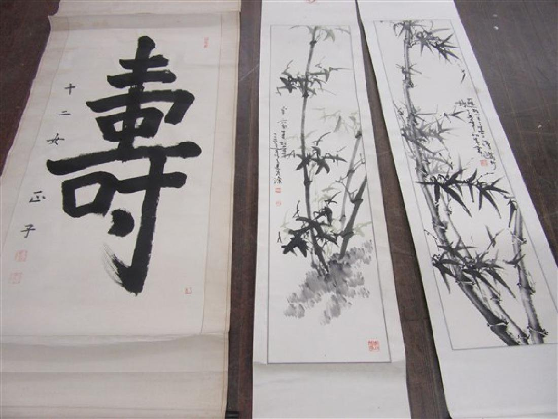 Four (4) Hanging Chinese Scrolls - 2