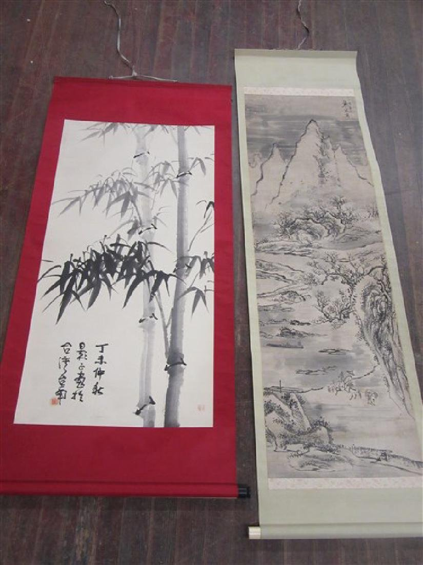 Four (4) Hanging Chinese Scrolls - 10