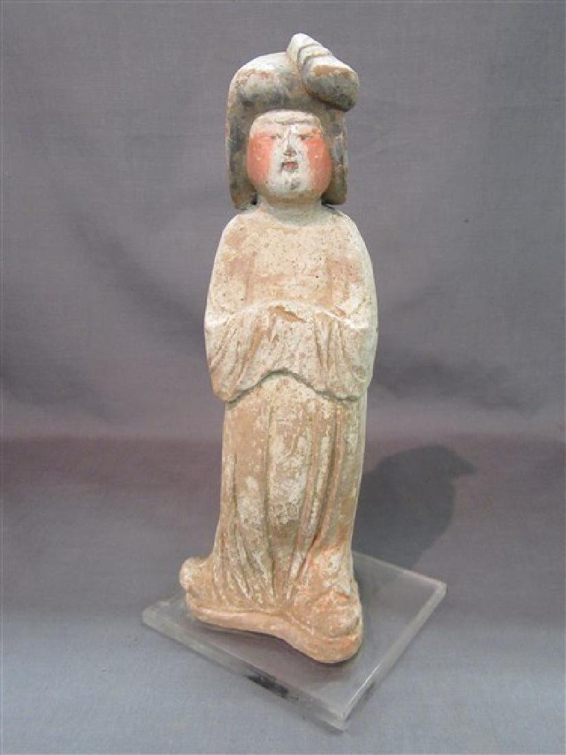 """Chinese Tang Dynasty """"Fat Lady"""" Pottery Figure"""