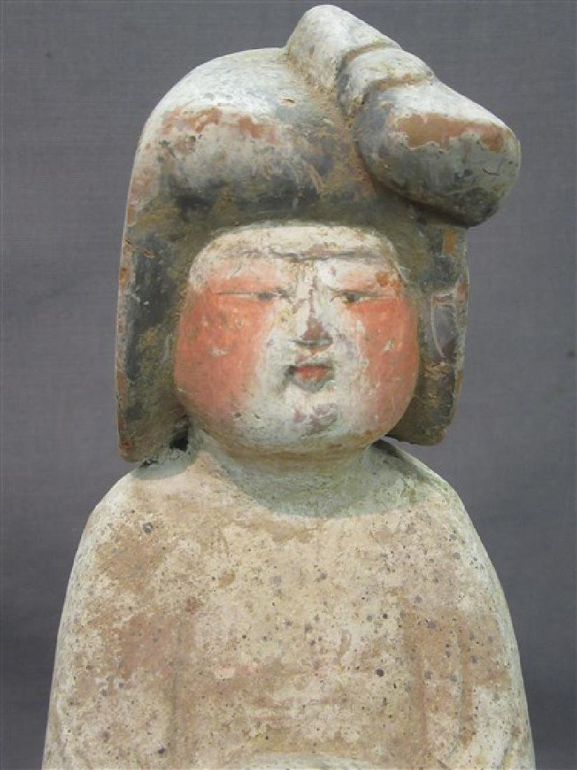 """Chinese Tang Dynasty """"Fat Lady"""" Pottery Figure - 2"""