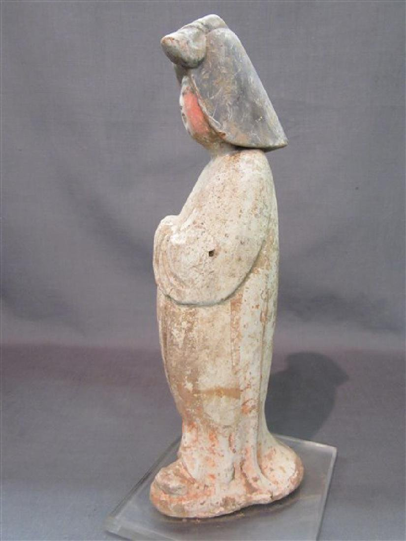 """Chinese Tang Dynasty """"Fat Lady"""" Pottery Figure - 3"""