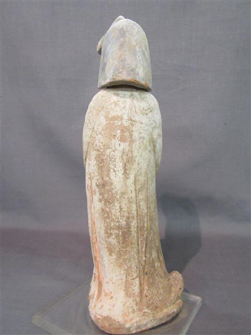 """Chinese Tang Dynasty """"Fat Lady"""" Pottery Figure - 4"""