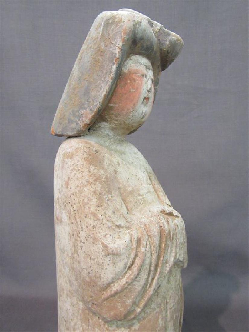 """Chinese Tang Dynasty """"Fat Lady"""" Pottery Figure - 6"""