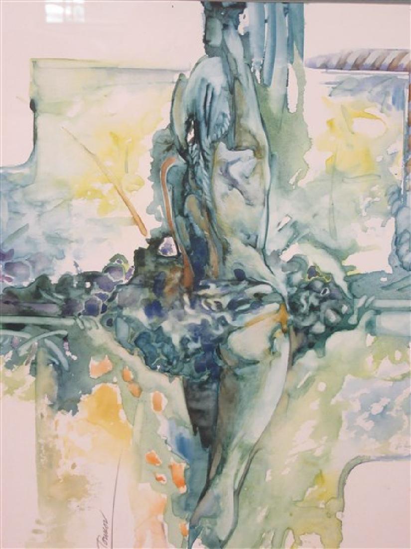 "Rossen Tonkov ""Balanced Motion"" Watercolor"
