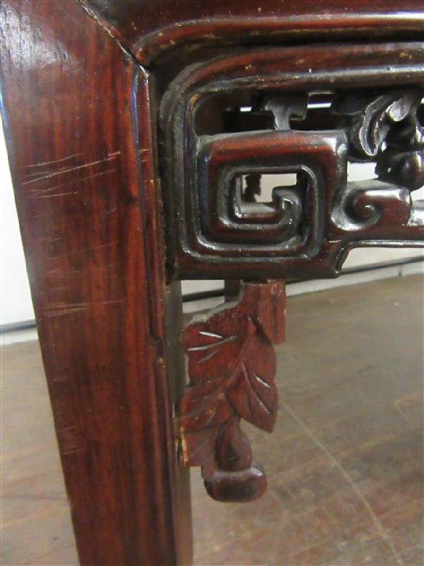 19th c. Chinese Rosewood Low Table - 5