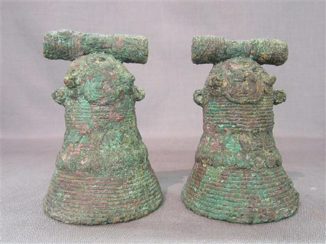 Two Chinese Bronze Bells Warring States