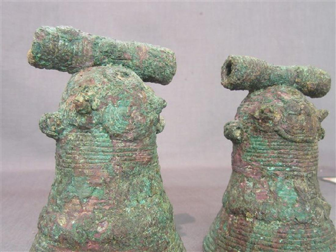 Two Chinese Bronze Bells Warring States - 2