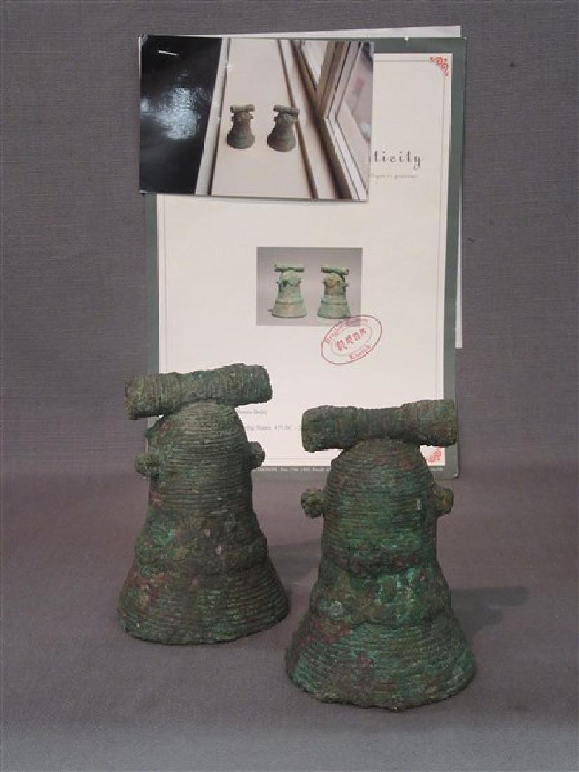 Two Chinese Bronze Bells Warring States - 3