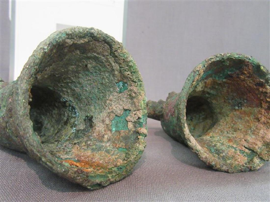Two Chinese Bronze Bells Warring States - 4
