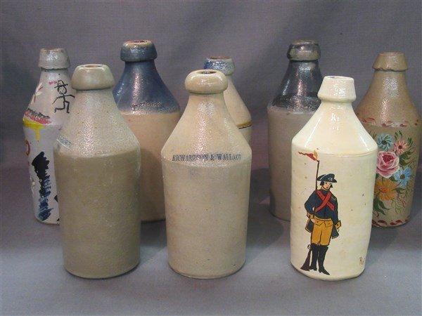 8 Stoneware Bottles