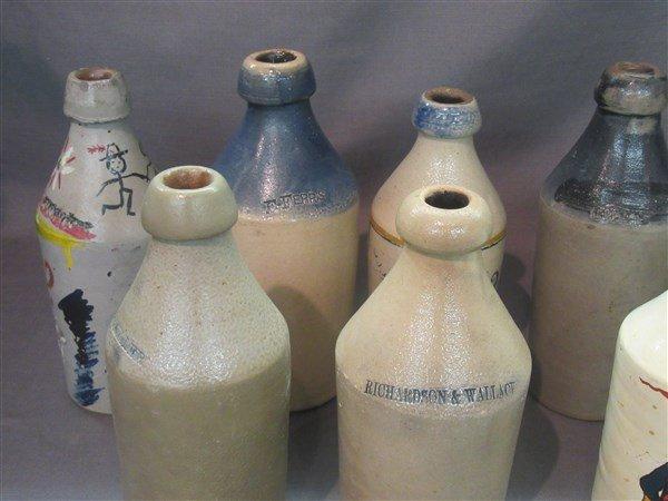8 Stoneware Bottles - 2