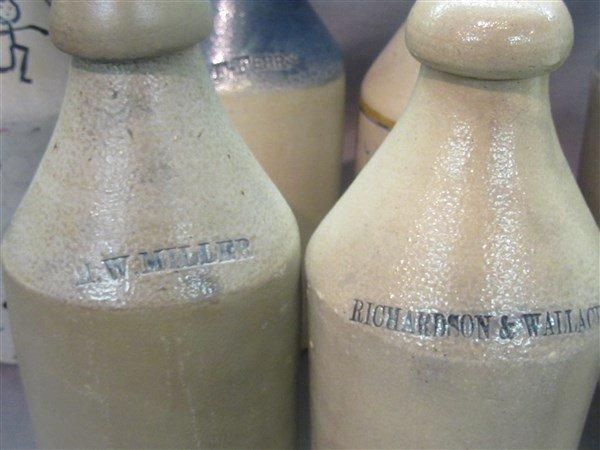8 Stoneware Bottles - 3