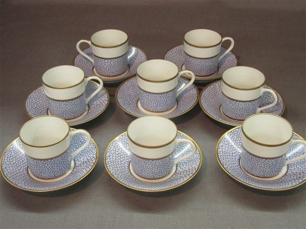 Manuel Canovas for Puiforcat Limoges Cups And Saucers