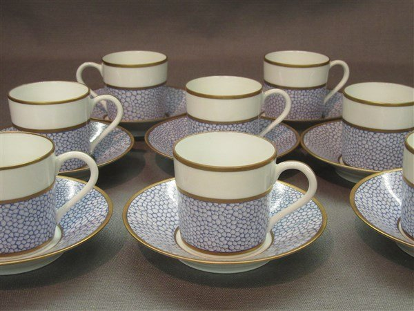 Manuel Canovas for Puiforcat Limoges Cups And Saucers - 2