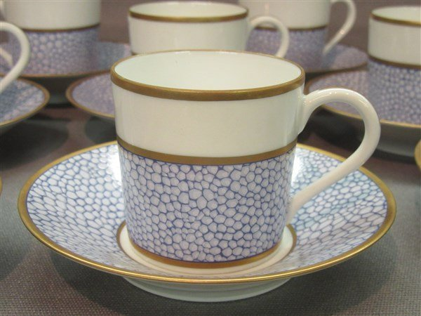 Manuel Canovas for Puiforcat Limoges Cups And Saucers - 3