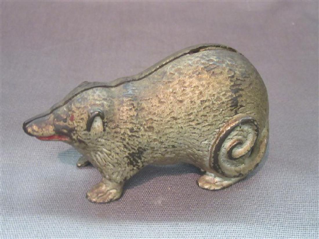Cast Iron Possum Still Bank