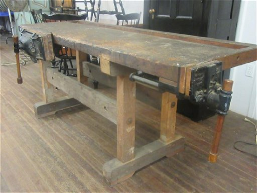 Woodworking Shop Bench With Emmert S 82 Vise