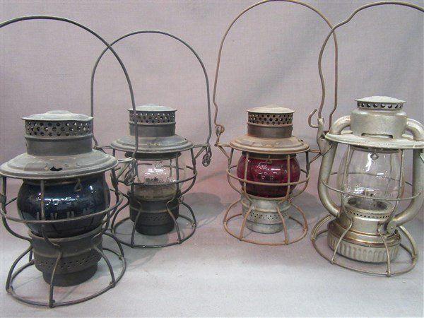 Four (4) Lehigh Valley Railroad Lanterns