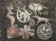 Vintage Estate Sterling Silver Jewelry Lot
