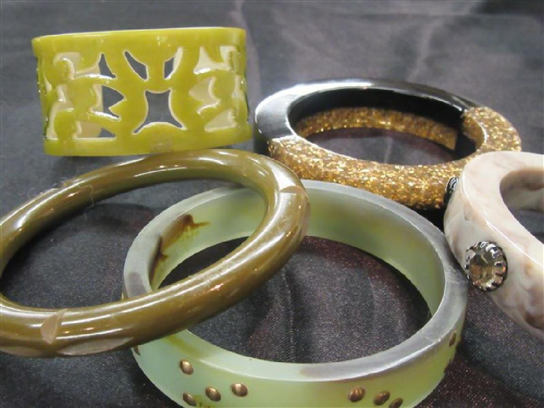 Five (5)  Vintage Plastic Bangle Bracelets - 2