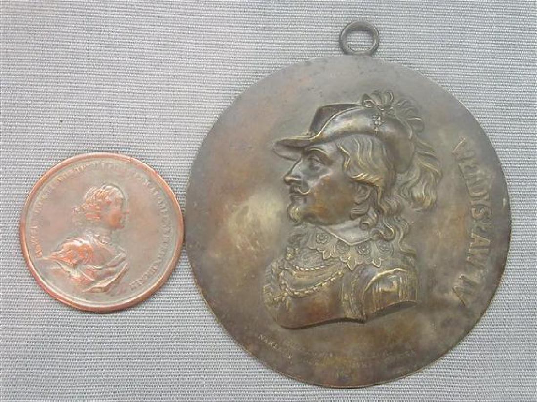 Two (2) Bronze Medallions