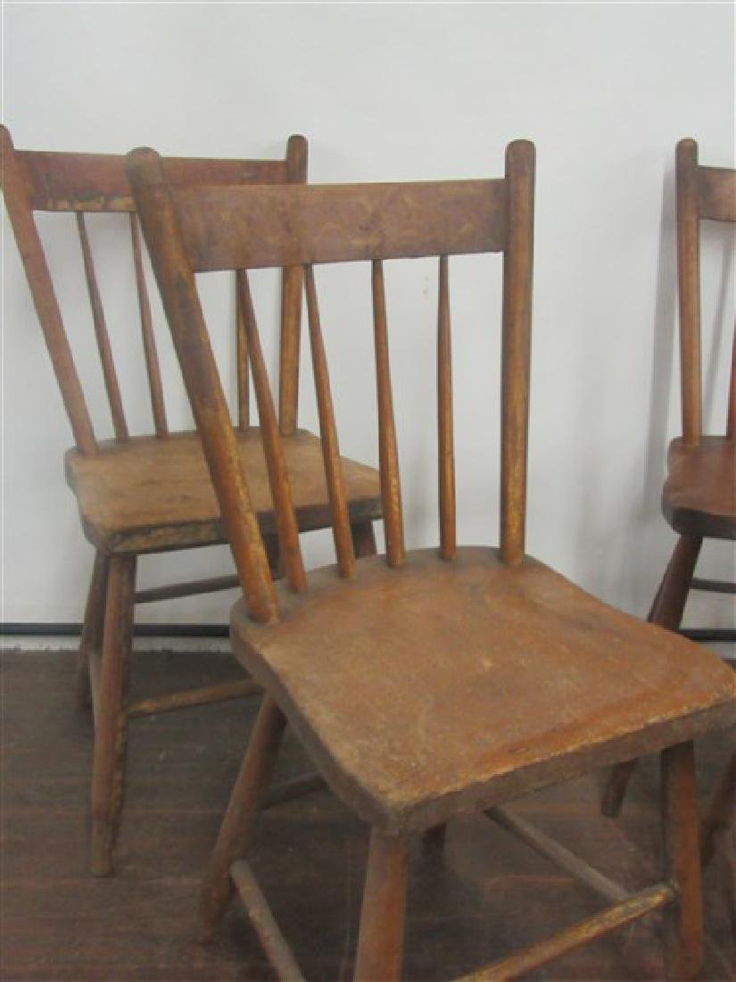 Set of Four (4) Country Farm House Chairs 19th C. - 2