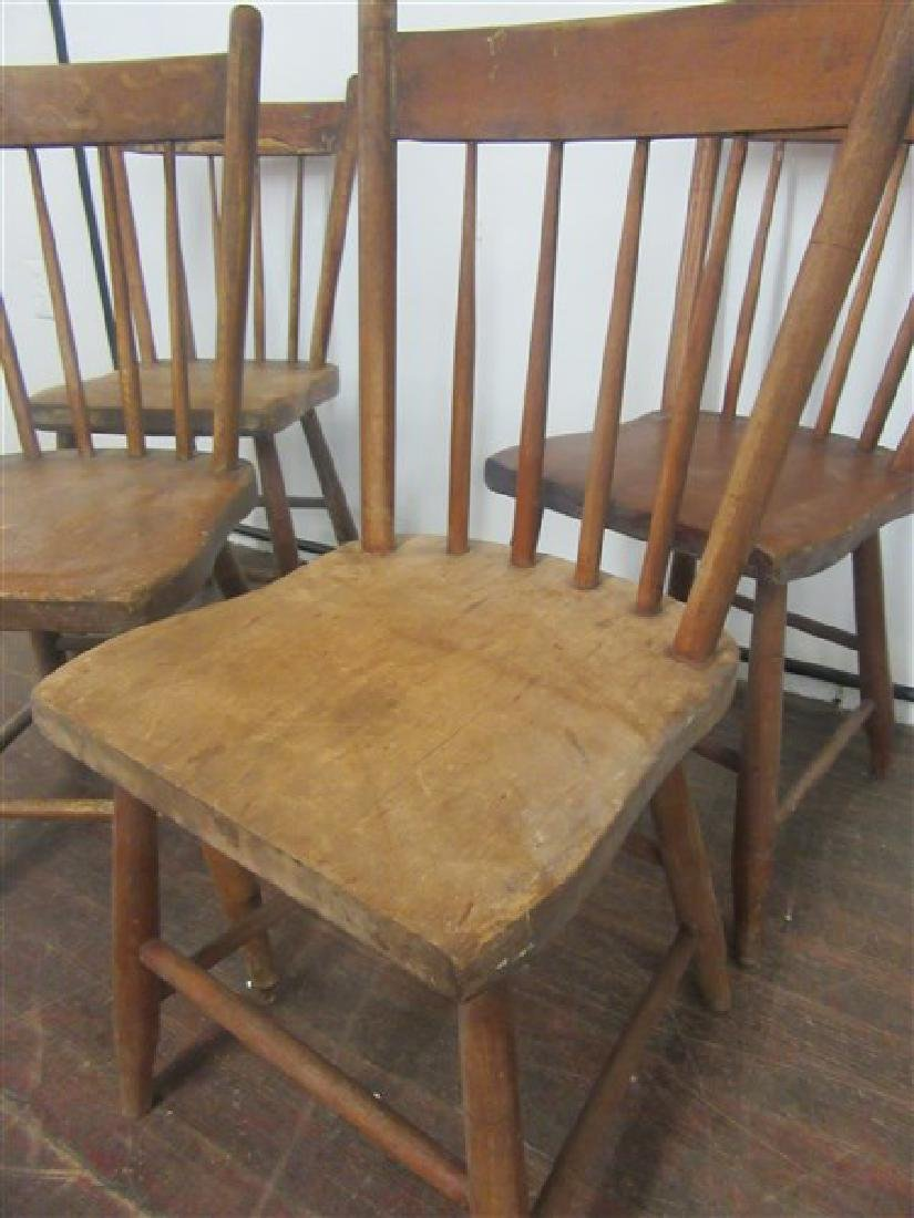 Set of Four (4) Country Farm House Chairs 19th C. - 3