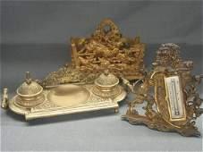 Three (3) Victorian Desk Accessories