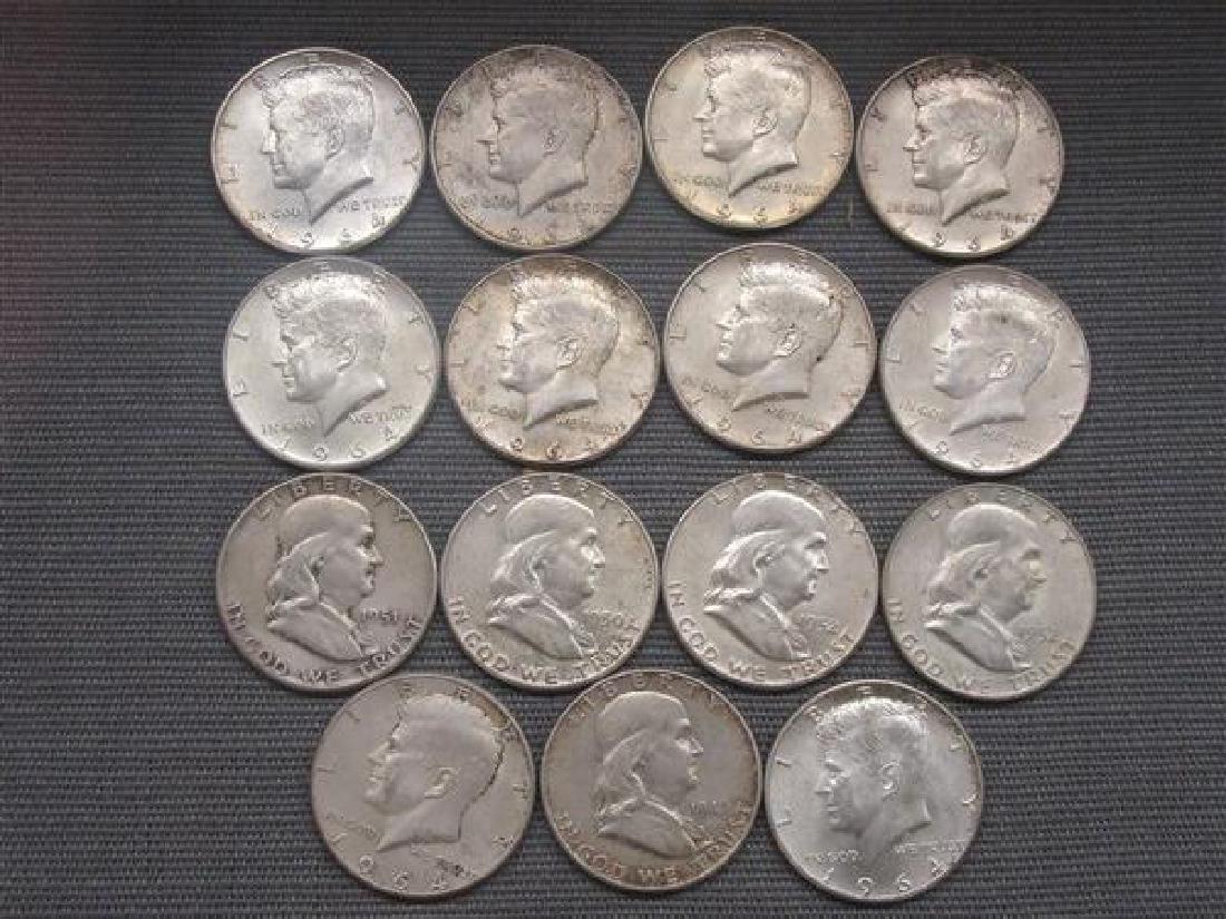 Fifteen (15) Silver Half Dollars