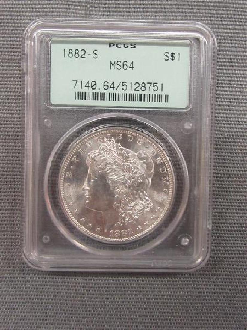 1882 -S U.S. Silver Dollar MS64
