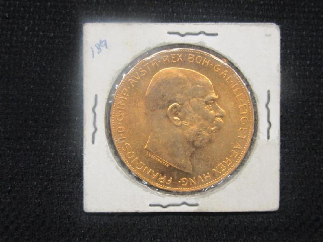 1915 Austrian 100 Corona Solid Gold Coin