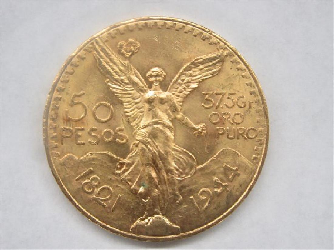 1944 50 Pesos Gold Mexico Coin