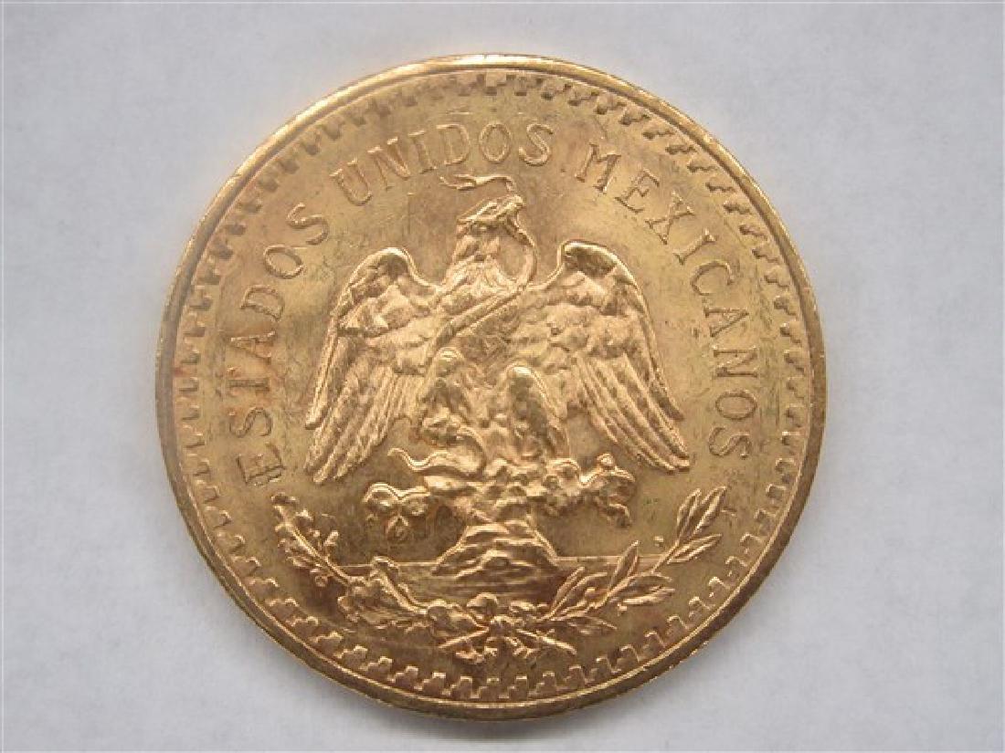 1944 50 Pesos Gold Mexico Coin - 2