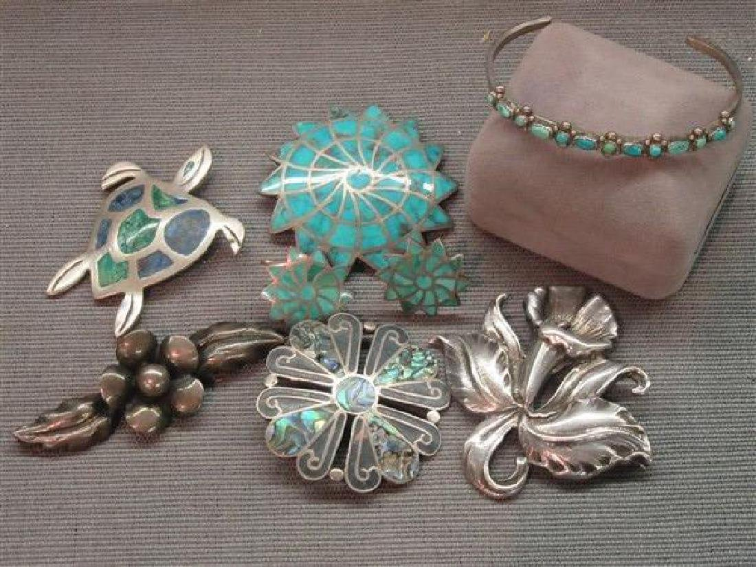 Vintage Sterling Silver Jewelry Group