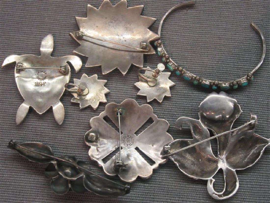 Vintage Sterling Silver Jewelry Group - 2