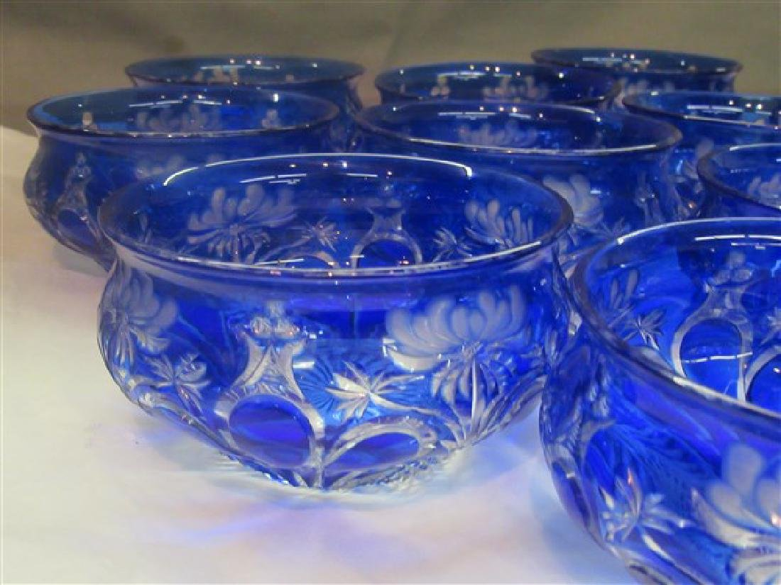 Twelve (12) Bohemian Cut To Clear Glass Bowls - 2