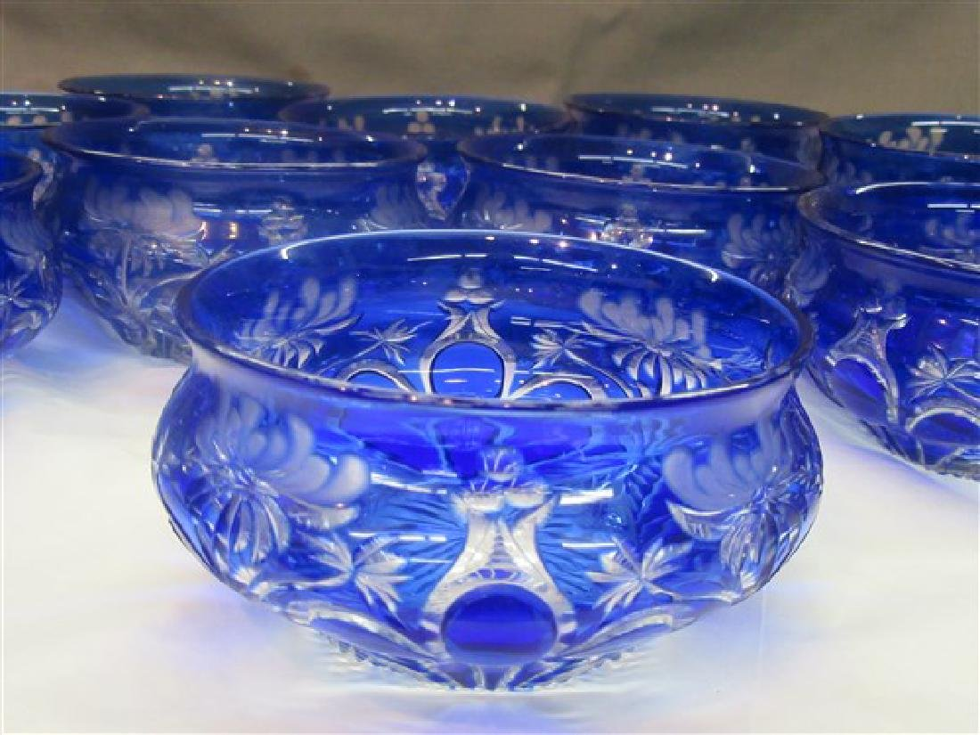 Twelve (12) Bohemian Cut To Clear Glass Bowls - 3