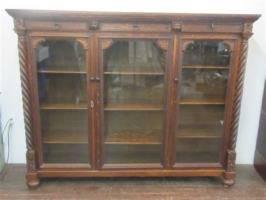 Berkey & Gay Carved Oak Bookcase