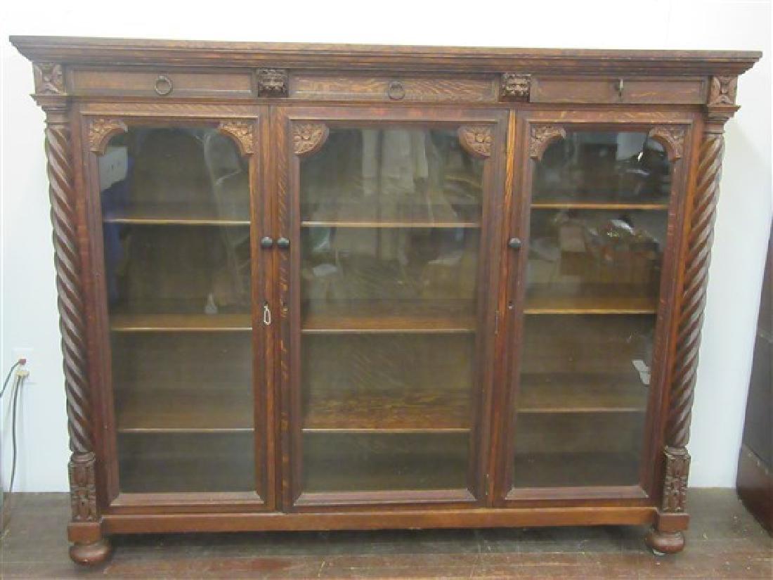 Berkey & Gay Carved Oak Bookcase - 2