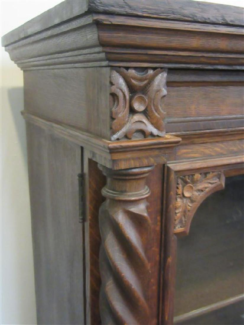 Berkey & Gay Carved Oak Bookcase - 3