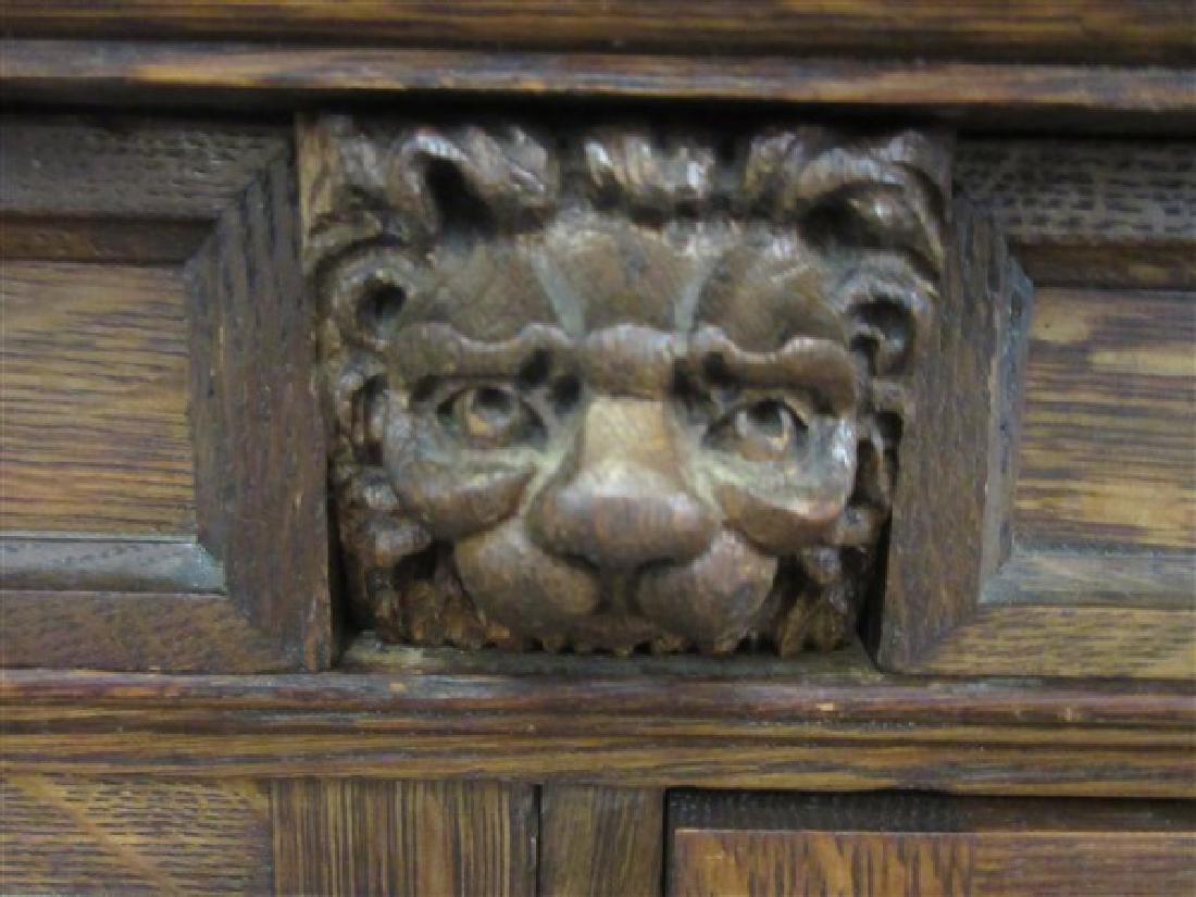 Berkey & Gay Carved Oak Bookcase - 4
